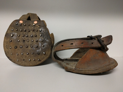 Pit Pony Boots (Coal Mine) x 2; 1900; GCM.001.012
