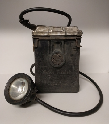 """""""Exide Triclad"""" Type F2 Miner Safety Lamp with battery; 1900; GCM.001.009"""