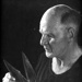 Joe Harrison holding his blade shears. ; Parkinson, A. J.; 1954 ; GGEN.001