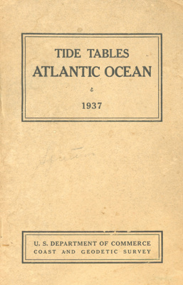 Tide Tables: Atlantic Ocean; Department of Commerce - Coast and Geodetic Survey; 1937; 1937.1