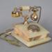 Telephone, Pseudo Antique Style Onyx Desk; Unknown Maker; 1985-1990; ZLB.4834