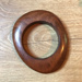 Wooden Asymmetrical Bangle; Unknown; Possibly 1970's; 2017/02