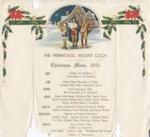 Christmas menu 1943; 2007.750.1