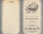 1948 New Zealand Catchment Boards' Association conference dinner menu; 2007.740.1