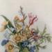 Floral bouquet cross stitch; Bronwyn Louise Clarke, 1962-; 1990-2000; 2015-2