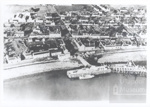 View of Ullapool from air with pier extension underway; 1950?; ULMPH 2000 0902