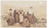 Five women sitting on a dyke; 1890?; ULMPH 2000 0191