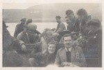 Flour mill workers on boat to Isle Martin; ULMPH 2000 0157