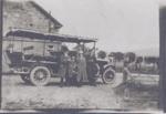 Charabanc outside big house Driver in uniform; ULMPH 2000 0583