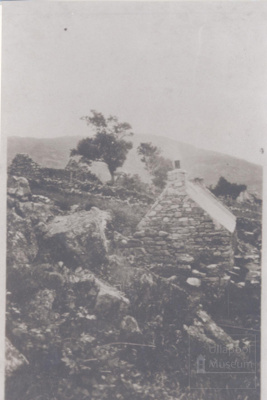 Old house in hills with Zinc roof and ruins Around It; 1890?; ULMPH 2000 0322
