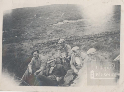 Group of men Having a break from the peats; 1950?; ULMPH 2000 0567