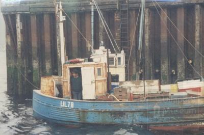 Fish boat at pier; ULMPH 2000 0013