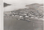 Ullapool from Air - pier at front to Morefield - seaforth road houses; 1950?; ULMPH 2000 0563