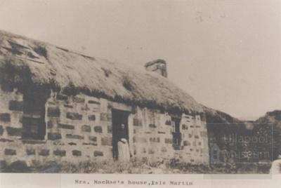 Mrs Macrae Isle Martin, outside her house; 1900?; ULMPH 2000 0326