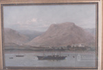 Painting of Leckmelm House with Piries yacht Ronach Maemore; ULMPH 2000 0178