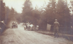 Two cars and marshall with flag; ?1920; ULMPH 2000 0167