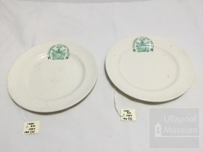 2 Ullapool village hall plates; ULM ACC 1997 190 a and b