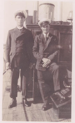 Two crew on Yacht; 1930?; ULMPH 2000 0802