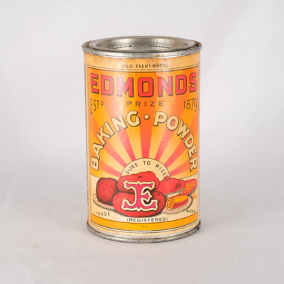 Tin, Edmonds Baking Powder; T.J. Edmonds Ltd; ?; RX.2018.12.2
