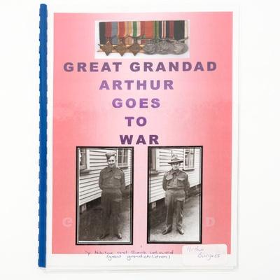 booklet, Great Grandad Arthur Goes to War; Nikita and Brock Lelieveld; ?; RX.2018.168
