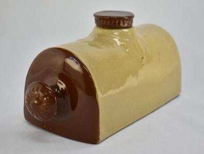Stoneware hot water bottle; unknown maker; RX.1975.104