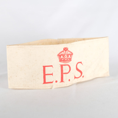 Military, EPS arm band; unknown maker; 1940; RX.1998.39.6