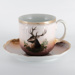 Crockery, Soup Mug and Saucer; unknown maker; 1870?; RX.1975.30