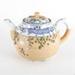Pottery, ornate decorated tea pot; unknown maker; ?; RX.2018.35