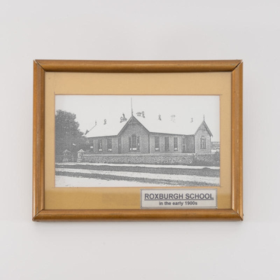 Photograph, Roxburgh School Building 1900s; unknown photographer; 1900?; RX.2018.89.9