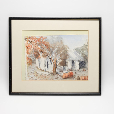 Painting, Sod Cottage in Watercolour; R Chapman; ?; RX.2018.183.2