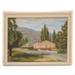 Painting, Roxburgh town scene; Harold W Bloxham; ?; RX.2018.179.1