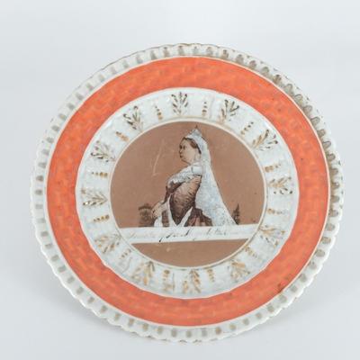 Commemorative, Souvenir Plate; unknown maker; 1887; RX.1975.14.1