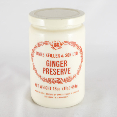 Jar of Ginger Preserve; James Keiller & Son Ltd; ?; RX.2002.5.2