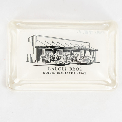 Souvenir, Ashtray; unknown maker; 1962; RX.1998.1