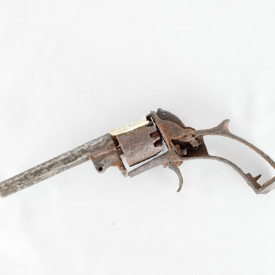 Weapons, muzzle loading revolver; unknown maker; ?; RX.1982.25