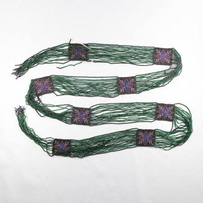 clothing, beaded sash; unknown maker; ?; RX.1997.32.2