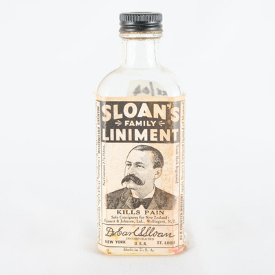 bottle, family liniment; Dr Earl Sloan; 1920-1940?; RX.2004.2.1