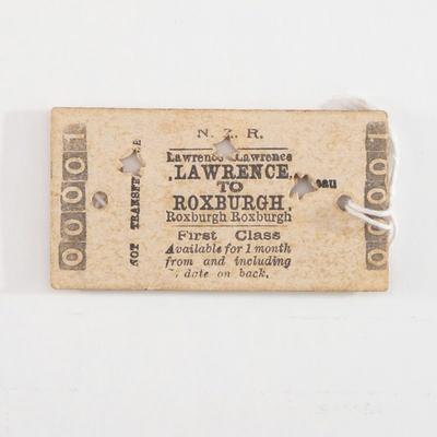 Souvenir, First Class passenger ticket; unknown maker; 1928; RX.2018.31