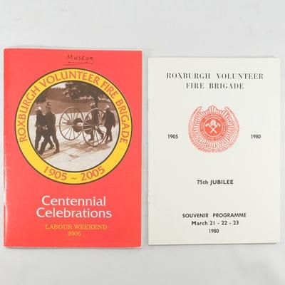 Booklets, Roxburgh Volunteer Fire Brigade; Robin Christie; 2005; RX.2018.58