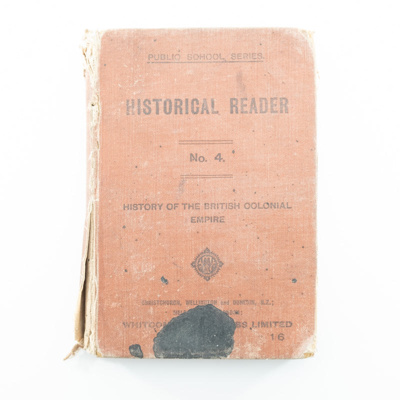 Book, Historical Reader; Whitcombe & Tombs Ltd; ?; RX.2018.93.3