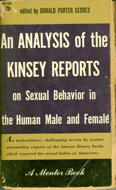 Front cover of book titled 'An Analysis of the Kinsey Reports' edited by Donald Porter Geddes