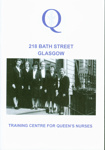 Front cover of booklet titled '218 Bath Street, Glasgow: Training Centre for Queen's Nurses'