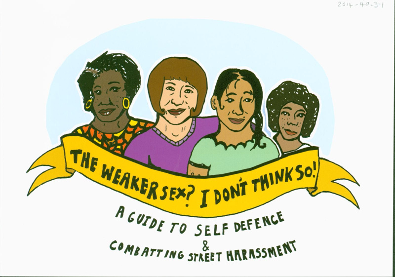 Front cover of self-defence booklet titled 'The Weaker Sex? I Don't Think So!'