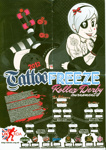 Foldout poster with fixture list for Tattoo Freeze Roller Derby Tournament