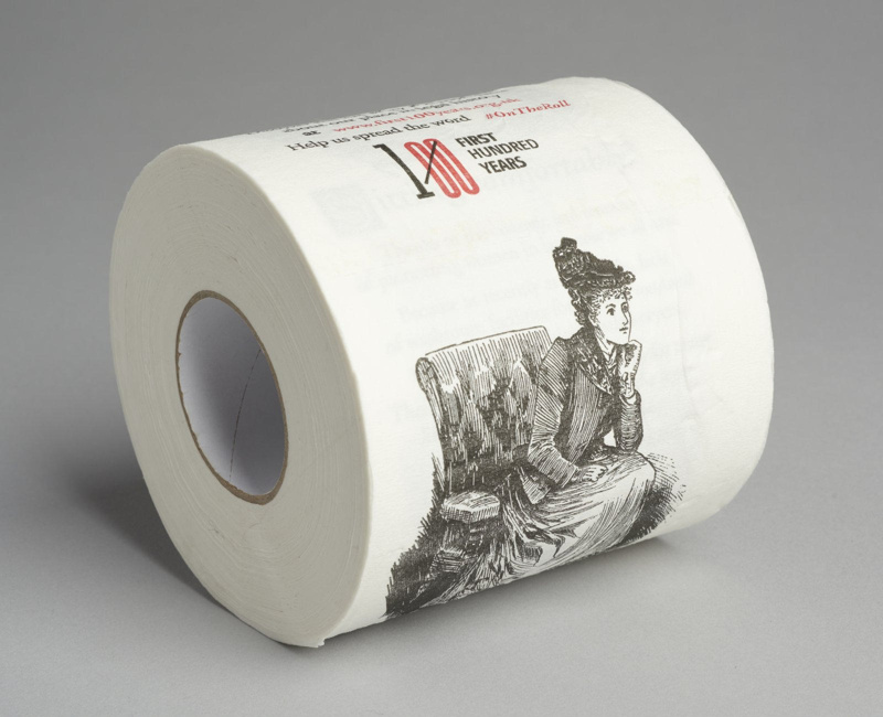 First 100 Years toilet roll celebrating a centenary of women in the legal profession (2016)
