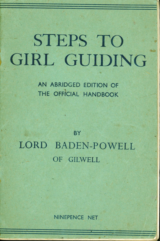"Green front cover of ""Steps to Girl Guiding"" by Lord Baden-Powell"