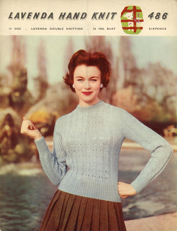 Knitting pattern: Lady's Jumper; Lister Lavenda Hand Knit No. 486; GWL-2015-34-68