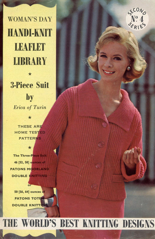 Knitting pattern: 3-Piece Suit; Woman's Day Handi-knit Leaflet Library Series 2 No. 4; GWL-2015-34-113