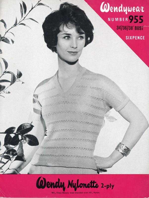 Knitting pattern: Lady's Jumper; Wendywear Design No. 955; GWL-2015-34-115