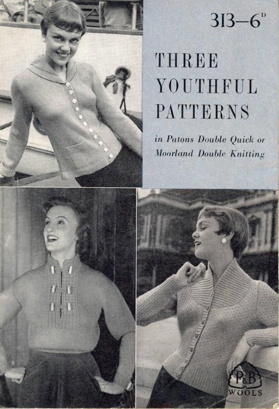 Knitting pattern: Three Youthful Patterns; P&B Wools No. 313; GWL-2015-34-29